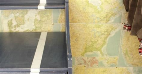 Diy Faux Map Wallpaper Hometalk