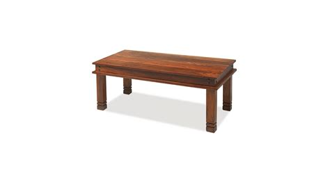 chunky square coffee table jali sheesham 110 cm chunky coffee table lifestyle