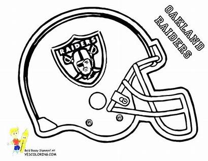 Coloring Pages Football College Helmet Team Nfl