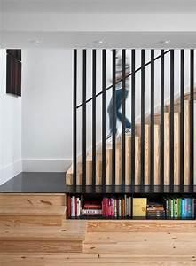 Escalier Double Quart Tournant Pas Cher : escalier droit et escalier tournant en 100 designs ~ Premium-room.com Idées de Décoration