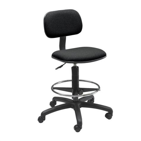 economy extended height drafting chair in black 3390bl