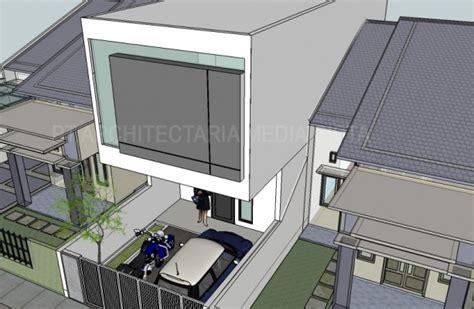 desain rumah minimalis box house  rawasari jakarta timur