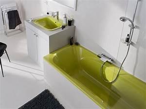 comment relooker sa salle de bains sans se ruiner elle With peinture pour baignoire et lavabo