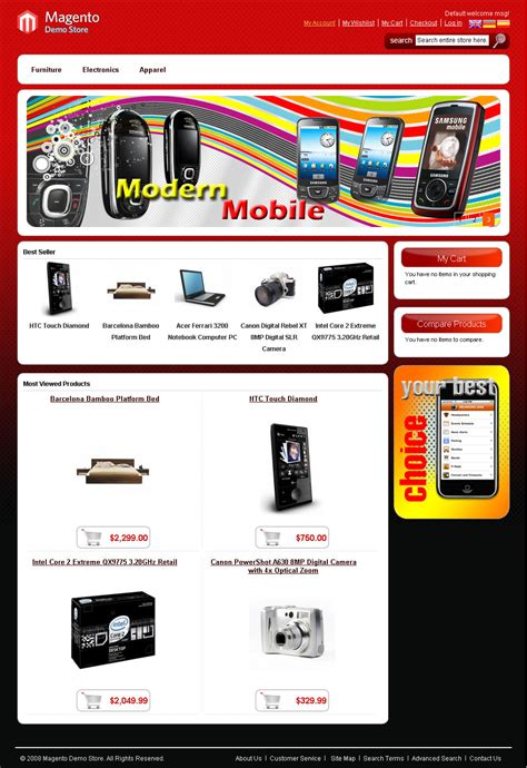 magento templates 40 free magento themes for your shopping store designbeep