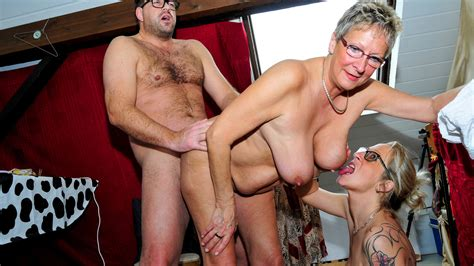 Letsdoeit German Grannies Share A Young Guys Thick De
