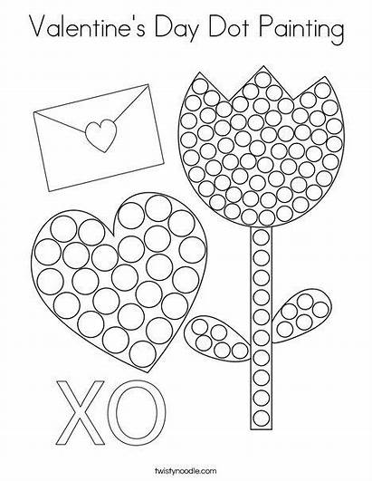 Dot Coloring Valentine Painting Valentines Noodle Twistynoodle