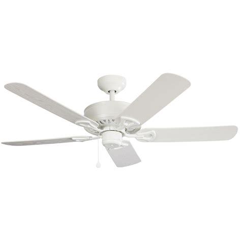 harbor breeze fan downrod shop harbor breeze calera 52 in white indoor outdoor