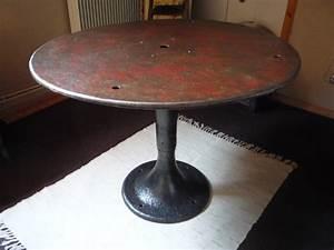 Pied De Table Basse Metal Industriel : ancienne table metal pied fonte industriel loft 1940 ~ Teatrodelosmanantiales.com Idées de Décoration