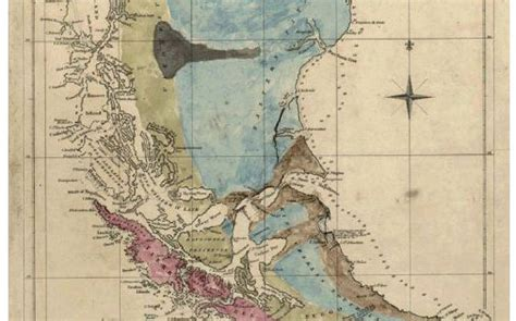 st geological map  patagonia drawn colored