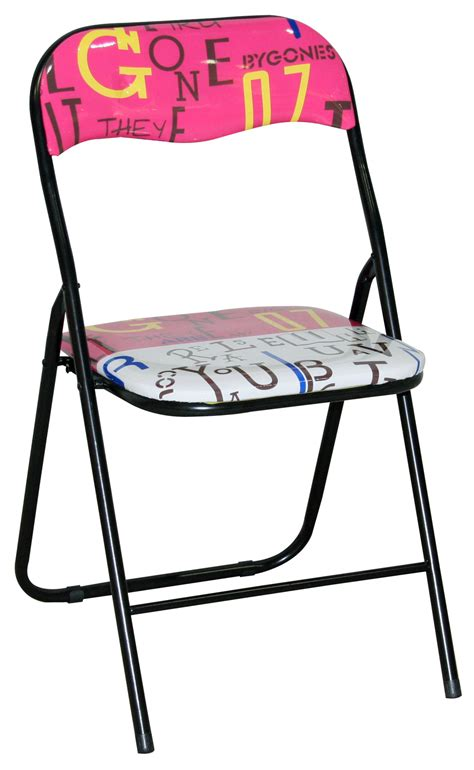colorful folding chairs metal folding easy chair with colorful printing cushions