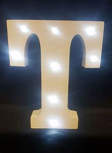 buy wooden led light up letter white t from chair cover With led light up letters