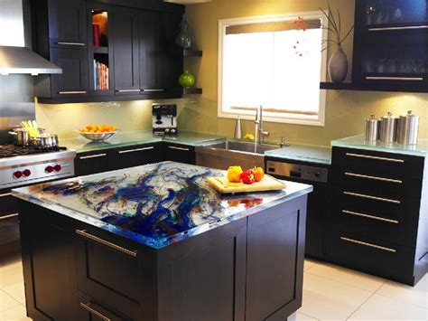 cool kitchen design ideas picture of glass tops for cool and unusual kitchen designs from thinkglass