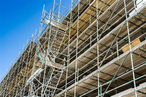 scaffolding stock image image  work building build