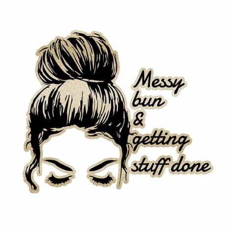 Spray a texturizing spray or salt spray onto dry hair to give your hair some texture. Messy Bun Getting Stuff Done Laptop Trackpad Sticker 3 ...