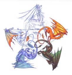 Elemental Dragon Drawings