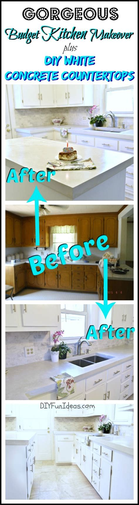 kitchen cheap makeovers gorgeous budget kitchen makeover with white concrete 3349