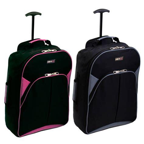 wheeled rucksack cabin baggage cabin luggage travel holdall bag wheeled suitcase