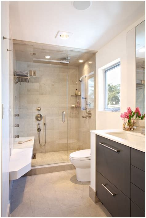 clever ways  store towels   shower enclosure
