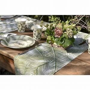 Chemin De Table Tropical : chemin de table jetable jungle ~ Melissatoandfro.com Idées de Décoration