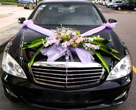 wedding car decoration ideas keep it simple and elegantwedding and jewelry design ideas
