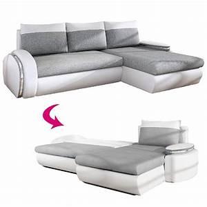 canap gris et blanc canap duangle bimatire cuir et With tapis de yoga avec canapé rapido fly