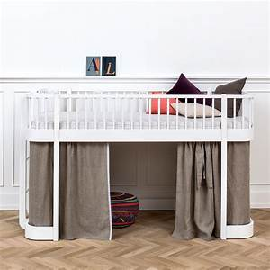 Oliver Furniture Hochbett : oliver furniture halbhohes hochbett wood wei online kaufen emil paula kids ~ A.2002-acura-tl-radio.info Haus und Dekorationen