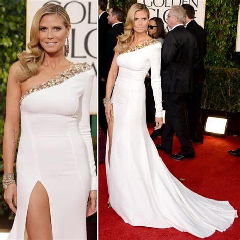Heidi Klum Golden Globes Red Carpet Fashion