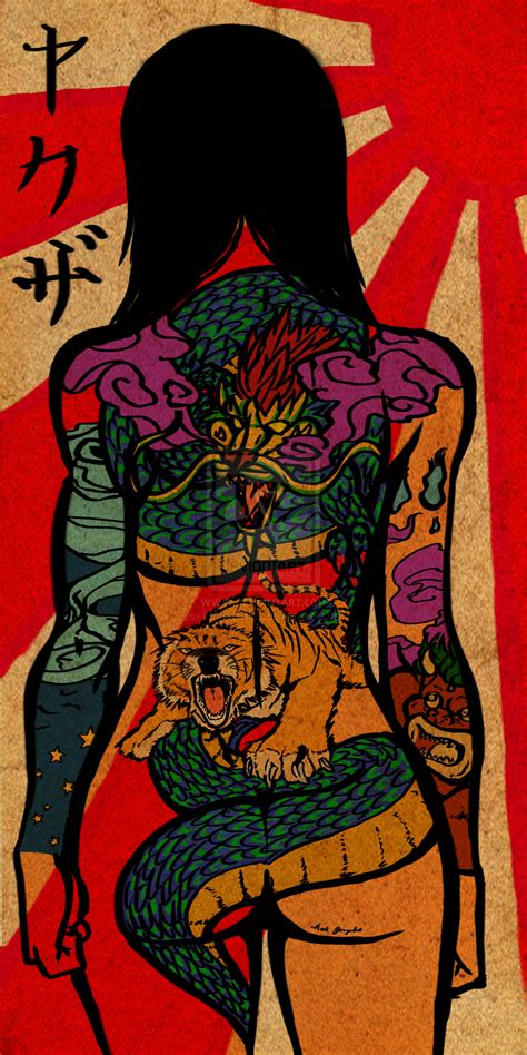 yakuza girl scroll  kingoflions  deviantart