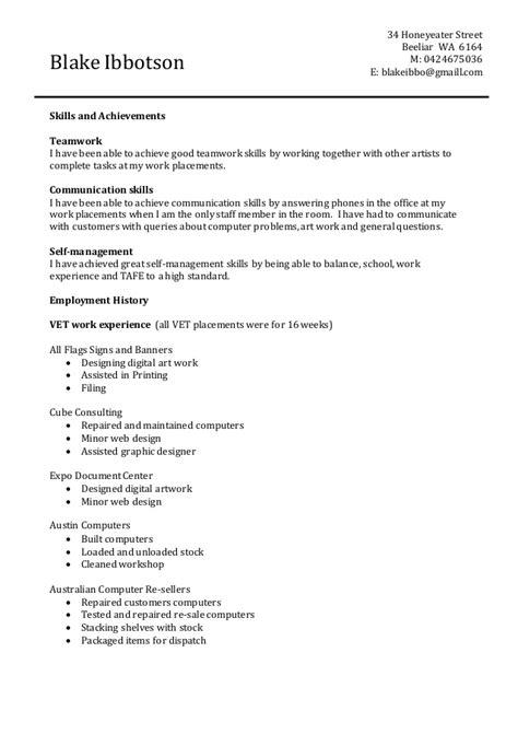 blakes resume