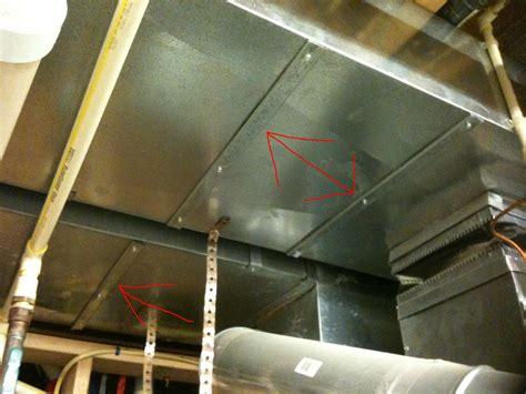 stop metal heating ducts  banging  making
