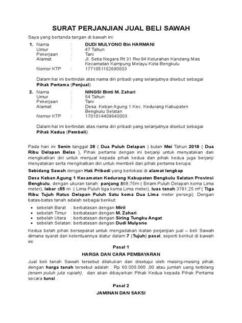 Sahabat 99, sudahkah lihat contoh surat jual beli tanah dalam artikel ini? Contoh-Surat-Perjanjian-Jual-Beli-Tanah-Lamudi (1)