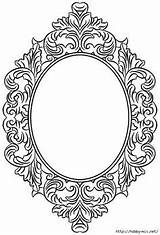 Coloring Blank Frame Pages Bos Mirror Tattoo Frames Tattoos Colouring Template Stencils Spiegel Framed Painting Digital Books sketch template
