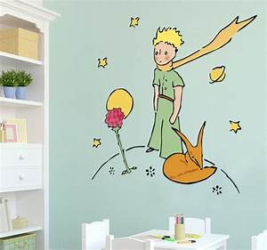 Sticker Petit Prince et sa rose TenStickers