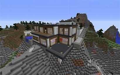 Minecraft Landscape Modern Background Wallpapers Architecture Px