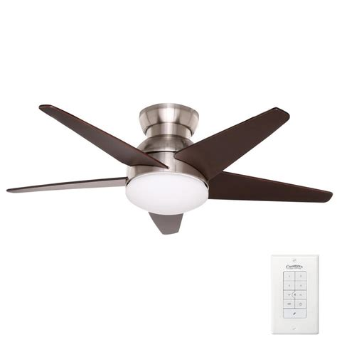 Ceiling Fan Sconces - sea gull lighting quality max plus 52 in brushed nickel
