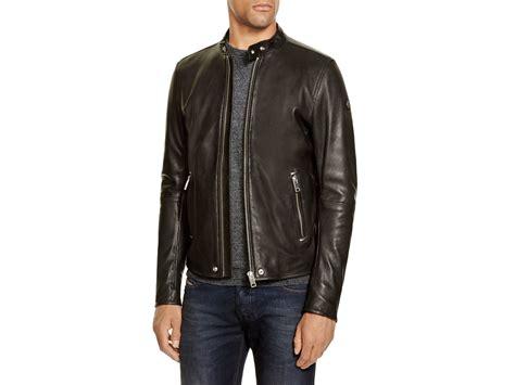 leather apparel lyst diesel l roshi leather jacket in black for men
