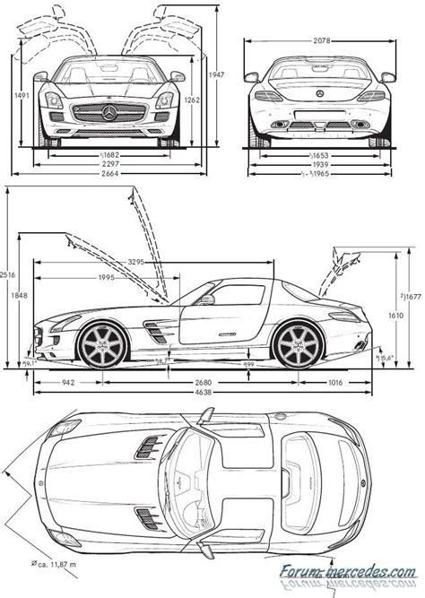 sls dimensions mercedes dessin voiture voiture