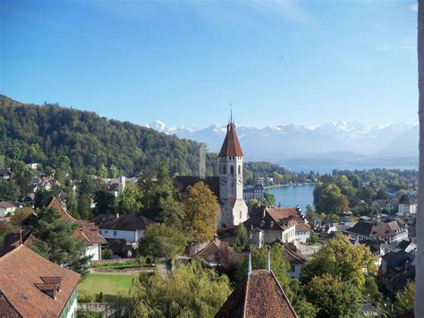 Church in a swiss village free image