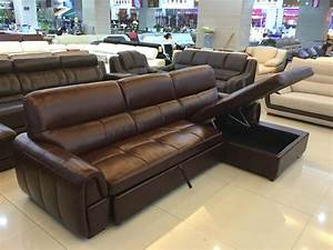 Multi-functional, L, Shape, Sofa, With, Sofa, Bed, And, Storage, Box