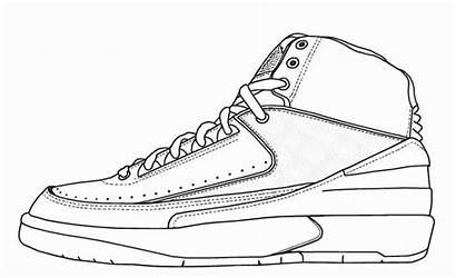 Jordan Coloring Air Shoes Pages Drawing Shoe