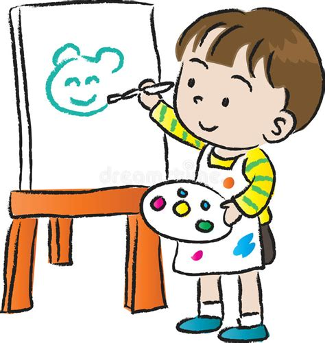 children drawing stock illustration illustration  cute