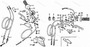 Honda Motorcycle 1985 Oem Parts Diagram For Handle Lever