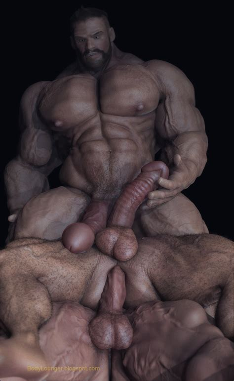 Body Lounger Digital Gay Erotic Art November 2012