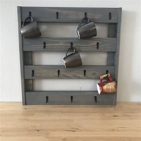 If you often buy coffee, you can make a coffee holder to personalize your cup. RYOBI NATION - Coffee Mug Holder in 2020   Repurposed wood, Coffee mug holder, Diy wooden wall