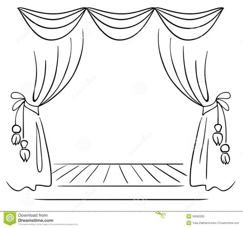 draw  curtain clipart clipground