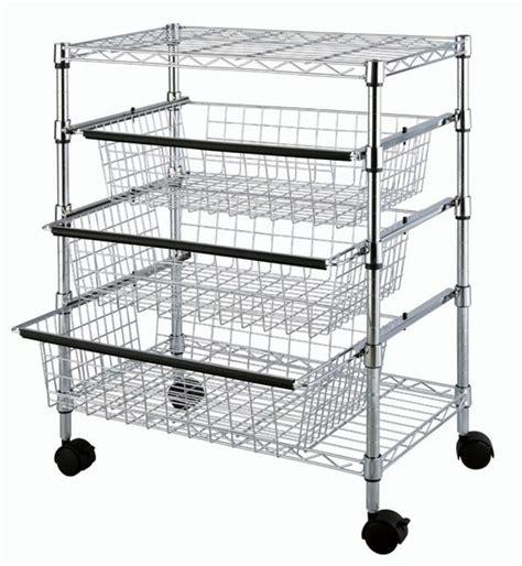 kitchen rack organizer tp 2474 4 tier kitchen wire rack drawer storage basket id 2474