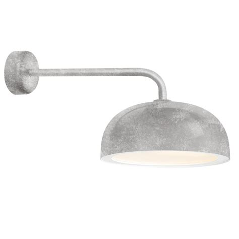 troy rlm dome 9 88 in h 1 light galvanized outdoor wall