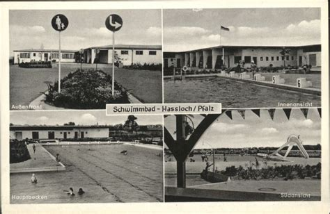 Ak Hassloch, Schwimmbad Nr 7732618 Oldthing