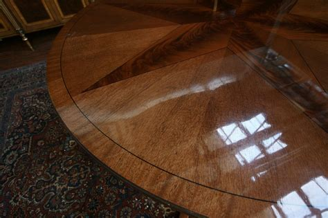 how to polish wood table large round mahogany dining table w leaves perimeter ebay