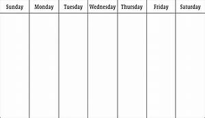 How to make a 7 day calendar in excel weekly calendar for Free 5 day calendar template